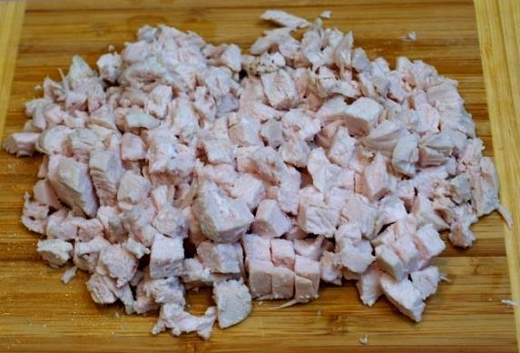 Салат с блинчиками из яиц и курицей Рецепт с фото