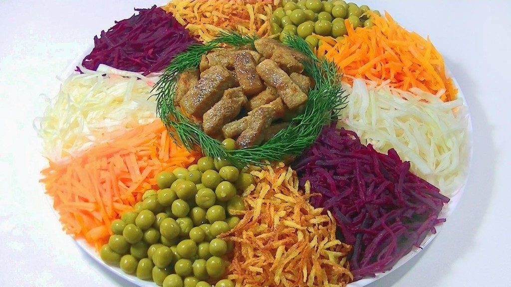 как оформить салат Чафан