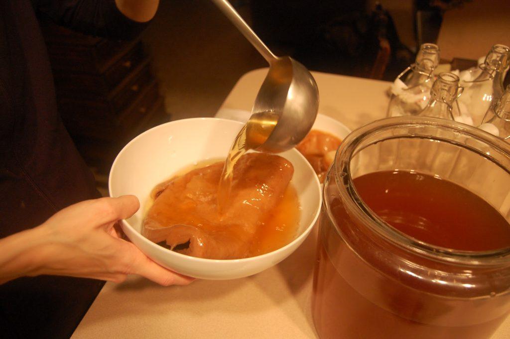 Как правильно разделить чайный гриб