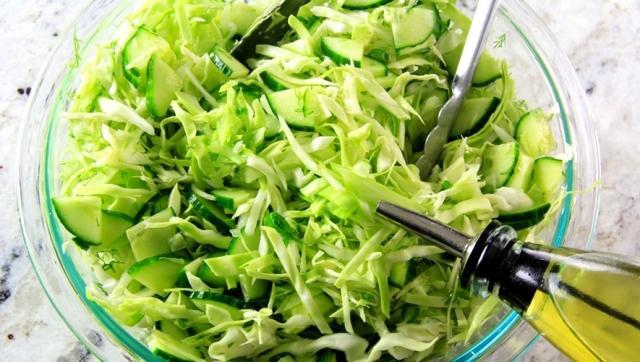 Овощные салаты рецепты с фото простые и вкусные^ из капусты и свежих огурцов