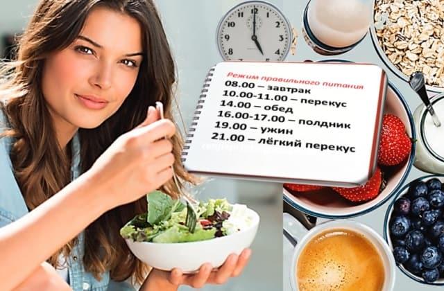 Правильный рацион питания на каждый