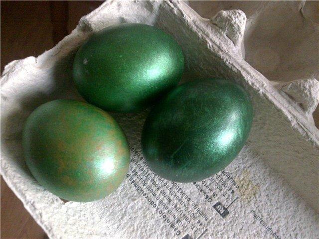 как красить яйца зеленкой