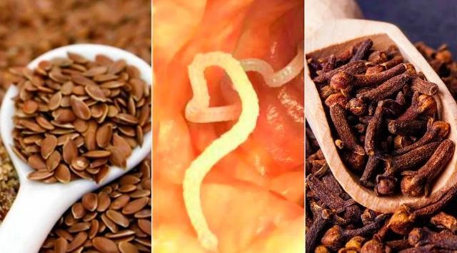 Семена льна и гвоздика от паразитов