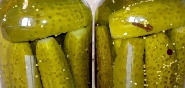 Огурцы на зиму: рецепт на 1 литровую банку