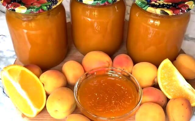 Варенье из абрикосов без косточек на зиму с апельсином