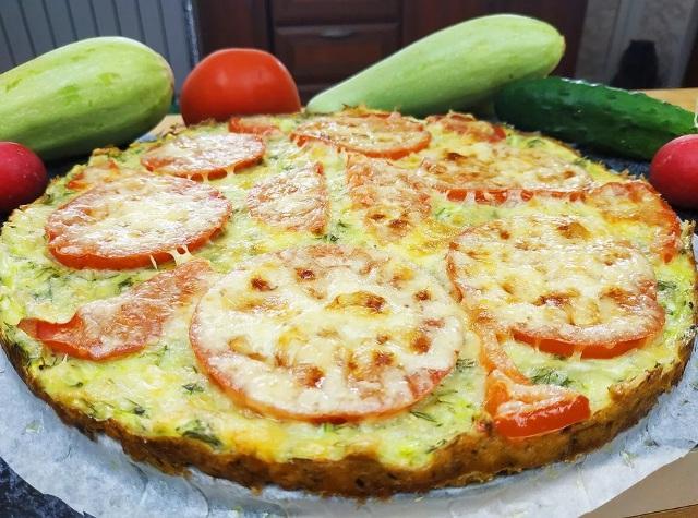 Как приготовить из кабачков пиццу на ужин