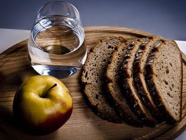 хлеб и вода в пост