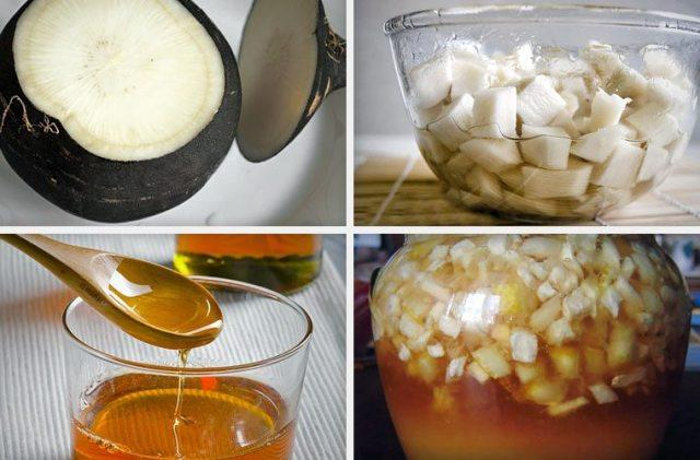 Черная редька с медом от кашля: рецепт