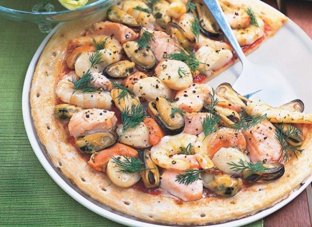 Пицца с морепродуктами в домашних условиях: рецепты в духовке.