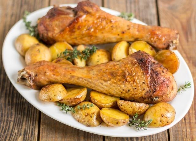 Как вкусно приготовить индейку с картофелем в духовке
