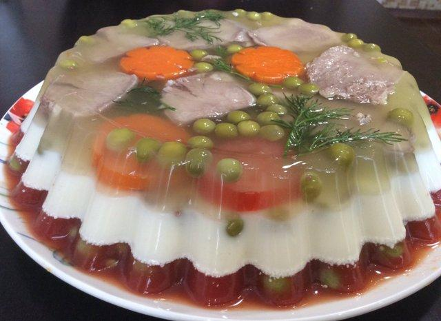 Заливное из языка с желатином: рецепты