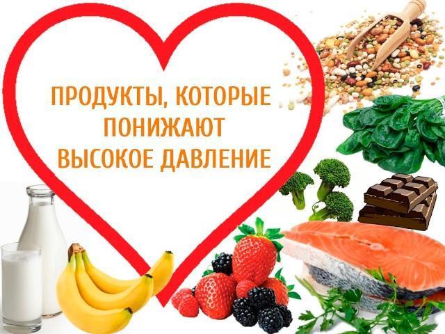 продукты снижающие кровяное давление