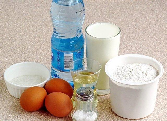 Рецепт с дырочками на минеральной воде