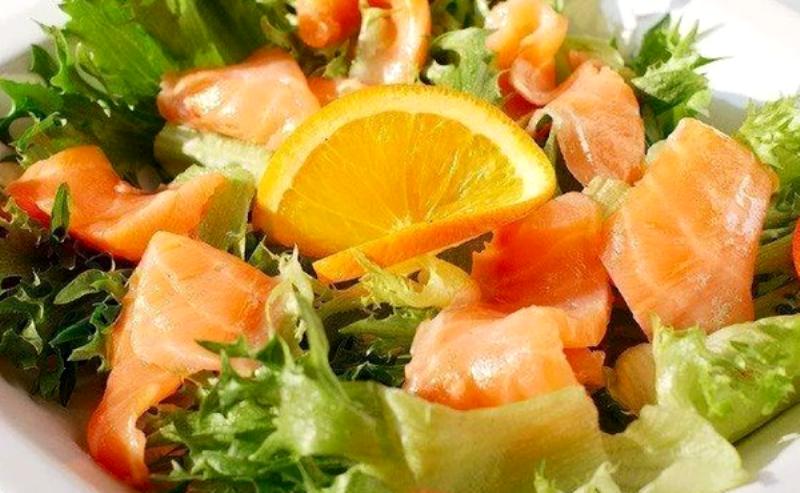 с лососем и апельсином